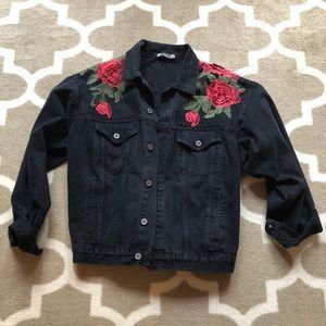 CARMAR Washed Black Jean Jacket